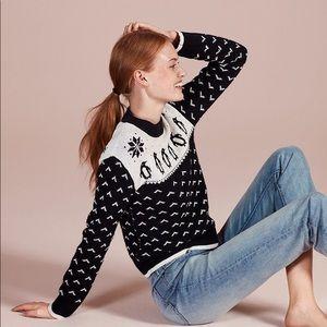 Kate Spade Penguin Intarsia Wool Blend Sweater